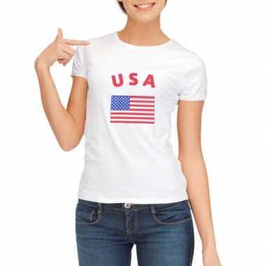 Goedkope usa vlag t-shirt voor dames