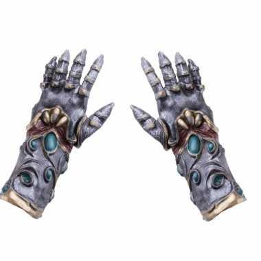 Goedkope verkleed alien/biomechanische handschoenen voor volwassenen