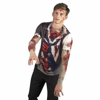 Goedkope verkleed zombie t-shirt
