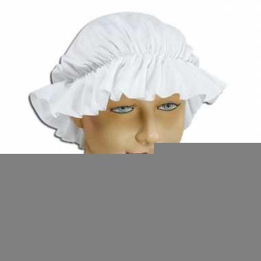 Goedkope victoriaans dienstmeisje mutsje wit