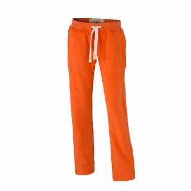 Goedkope vintage joggingbroek oranje voor dames