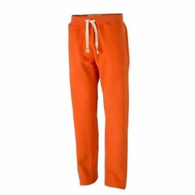 Goedkope vintage joggingbroek oranje voor heren