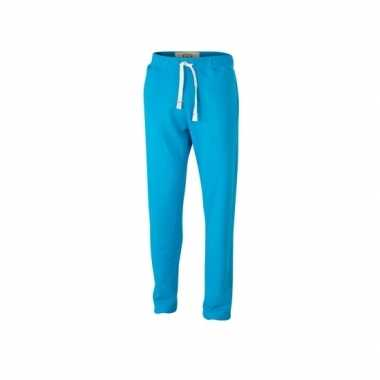 Goedkope vintage joggingbroek turquoise voor heren