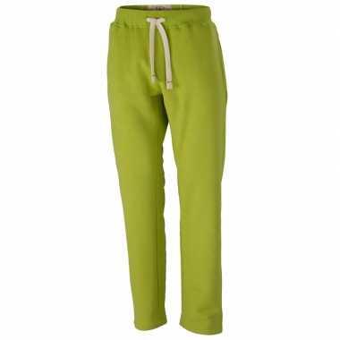 Goedkope vintage joggingbroek voor heren lime groene