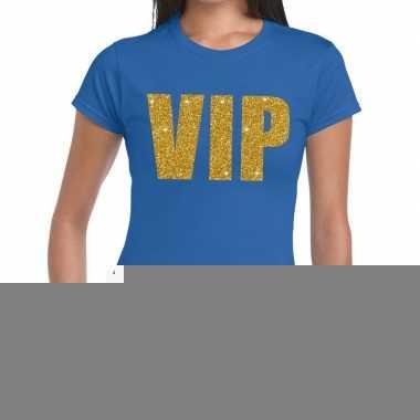 Goedkope vip fun t shirt blauw voor dames