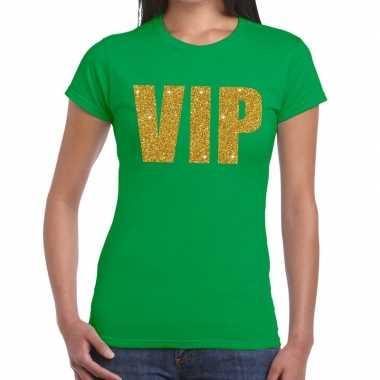 Goedkope vip fun t shirt groen voor dames