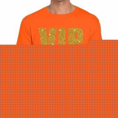 Goedkope vip fun t shirt oranje voor heren