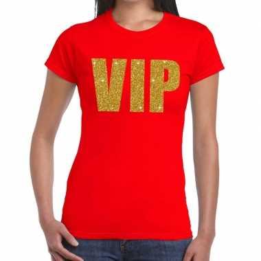 Goedkope vip fun t shirt rood voor dames