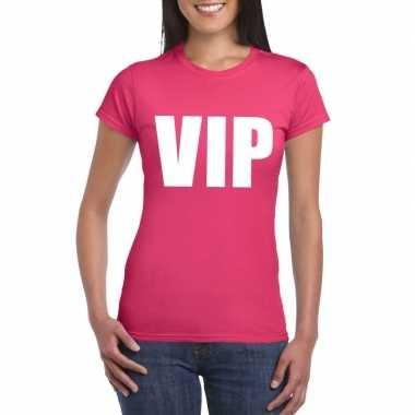 Goedkope vip fun t shirt roze voor dames