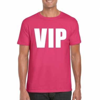 Goedkope vip fun t shirt roze voor heren