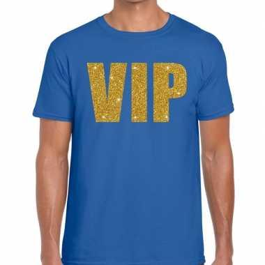 Goedkope vip fun t shirt voor heren blauw