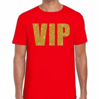 Goedkope vip fun t shirt voor heren rood