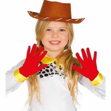Goedkope voordelige rode kinder handschoenen