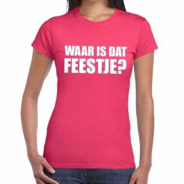 Goedkope waar is dat feestje fun t shirt voor dames roze