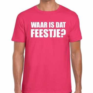 Goedkope waar is dat feestje fun t shirt voor heren roze