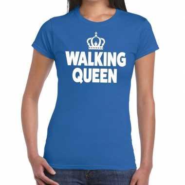 Goedkope wandel 4 daagse shirt walking queen blauw voor dames