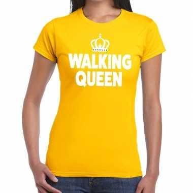 Goedkope wandel 4 daagse shirt walking queen geel voor dames
