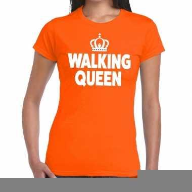 Goedkope wandel 4 daagse shirt walking queen oranje voor dames