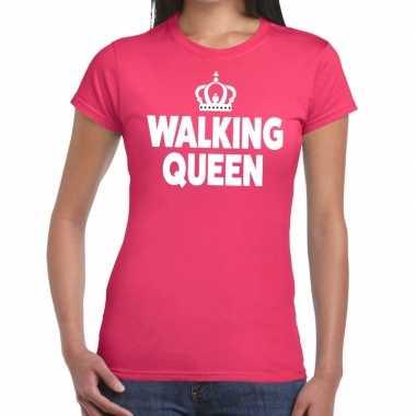 Goedkope wandel 4 daagse shirt walking queen roze voor dames