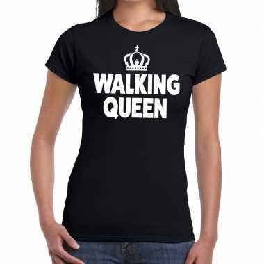 Goedkope wandel 4 daagse shirt walking queen zwart voor dames