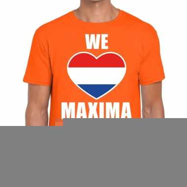 Goedkope we hart maxima t shirt oranje voor heren