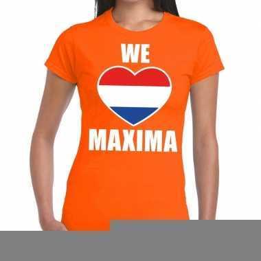 Goedkope we love maxima shirt oranje dames