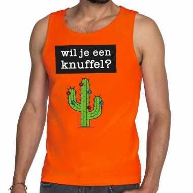 Goedkope wil je een knuffel fun tanktop / mouwloos shirt oranje voor