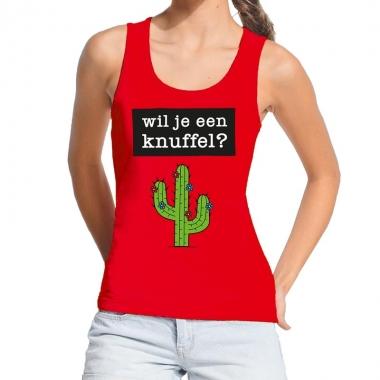 Goedkope wil je een knuffel fun tanktop / mouwloos shirt rood voor da
