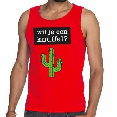 Goedkope wil je een knuffel fun tanktop / mouwloos shirt rood voor he