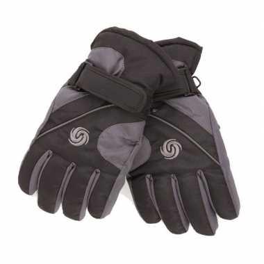 Goedkope winter handschoenen voor jongens zwart/navy