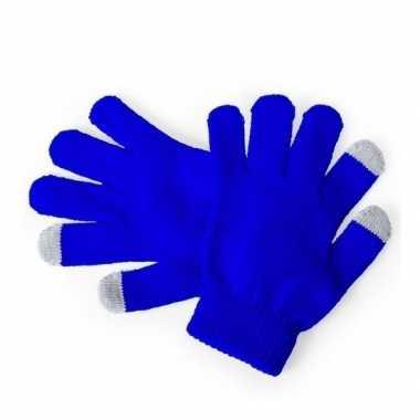 Goedkope winter handschoenen voor kinderen blauw