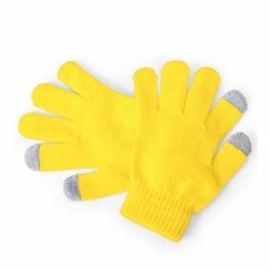 Goedkope winter handschoenen voor kinderen geel