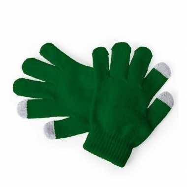 Goedkope winter handschoenen voor kinderen groen