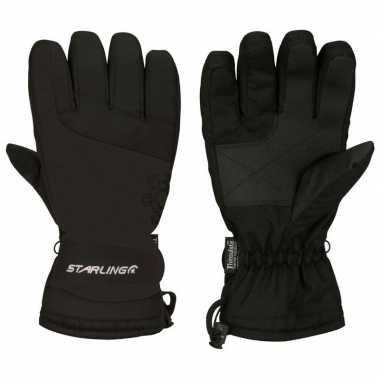 Goedkope wintersport handschoenen voor volwassenen zwart