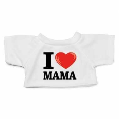Goedkope wit knuffel shirt i love mama maat m voor clothies knuffel 1