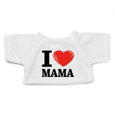 Goedkope wit knuffel shirt i love mama maat xl voor clothies knuffel