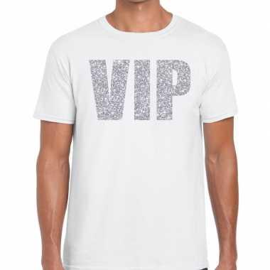 Goedkope wit vip zilver fun t shirt voor heren