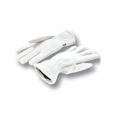 Goedkope witte handschoenen fleece voor dames/heren
