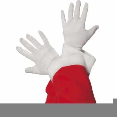 Goedkope witte kerstman handschoenen kort