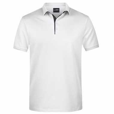 Goedkope witte premium poloshirt golf pro voor heren