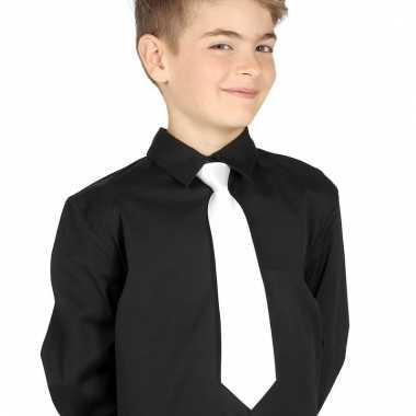 Goedkope witte stropdas 30 cm