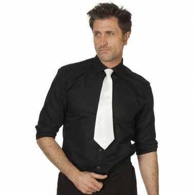 Goedkope witte verkleed stropdassen 41 cm voor dames/heren
