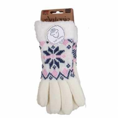 Goedkope witte winterhandschoenen nordic voor dames
