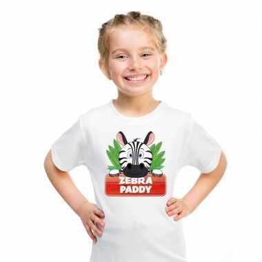 Goedkope zebra dieren t shirt wit voor kinderen