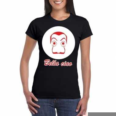 Goedkope zwart bankovervaller t shirt voor dames