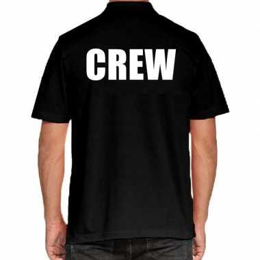 Goedkope zwart crew polo t shirt grote maten voor heren