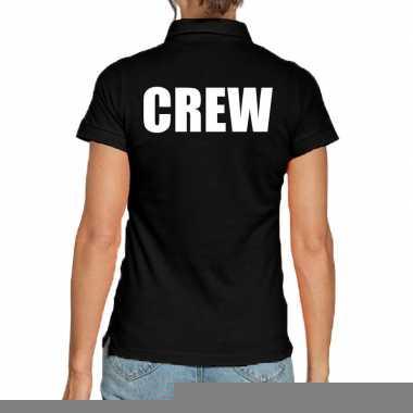 Goedkope zwart crew polo t shirt voor dames