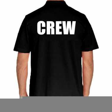 Goedkope zwart crew polo t shirt voor heren