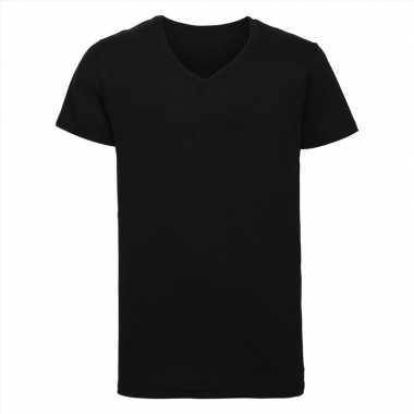 Goedkope zwart heren t shirts met v hals