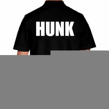 Goedkope zwart hunk polo t shirt voor heren